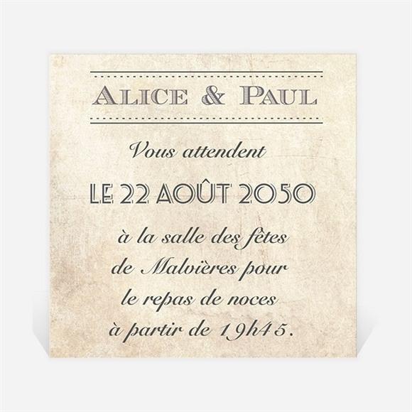 Carton d'invitation mariage Venez vous joindre à nous ! réf.N300807