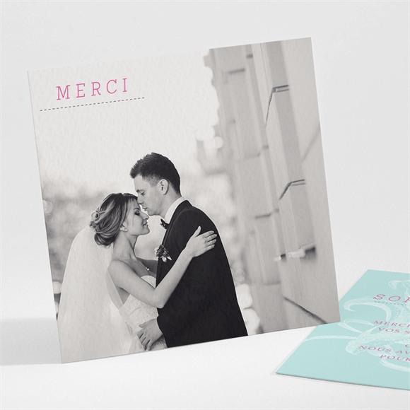 Remerciement mariage Simple et chic réf.N30121