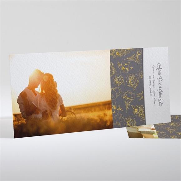 Faire-part mariage Gris anthracite réf.N13146