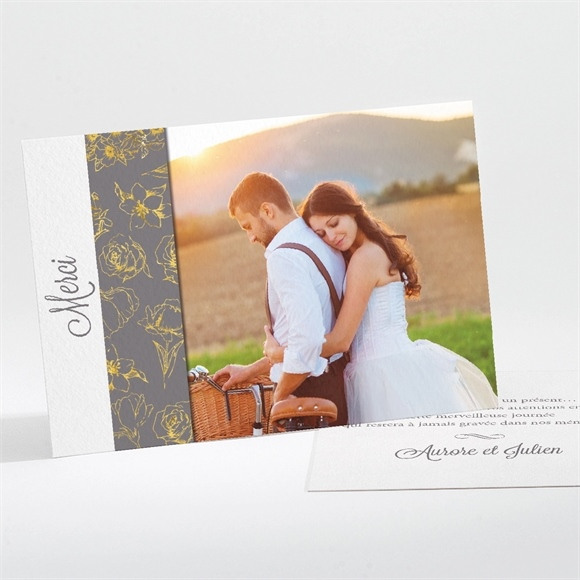 Remerciement mariage Gris anthracite réf.N11186