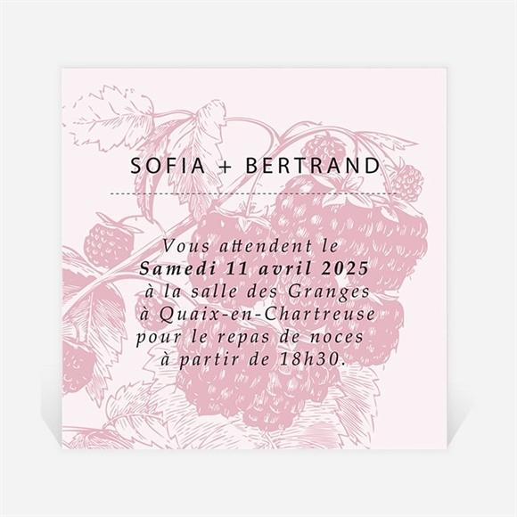 Carton d'invitation mariage Carte gourmande et raffinée réf.N300819
