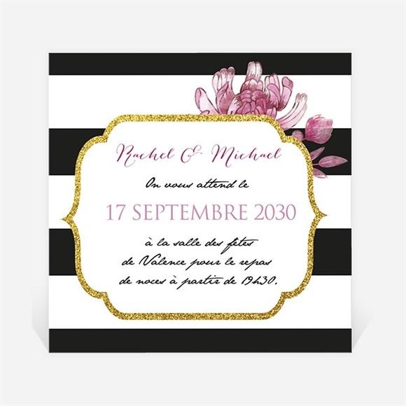 Carton d'invitation mariage Original et baroque réf.N300822
