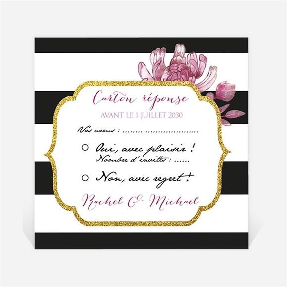 Carton réponse mariage Original et baroque réf.N300823