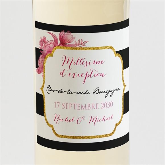 Etiquette de bouteille mariage Original et baroque réf.N300824