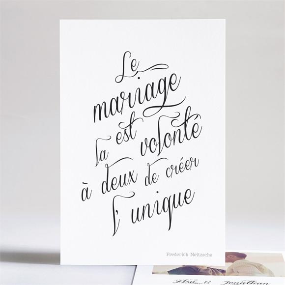 Faire-part mariage Notre Volonté réf.N241110