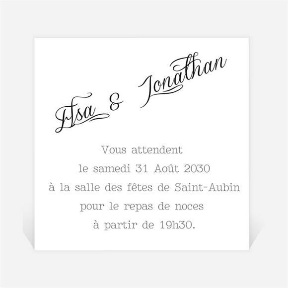 Carton d'invitation mariage Notre Volonté réf.N300825