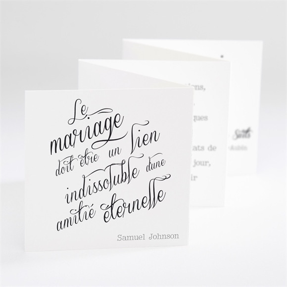 Remerciement mariage Notre Volonté réf.N80090