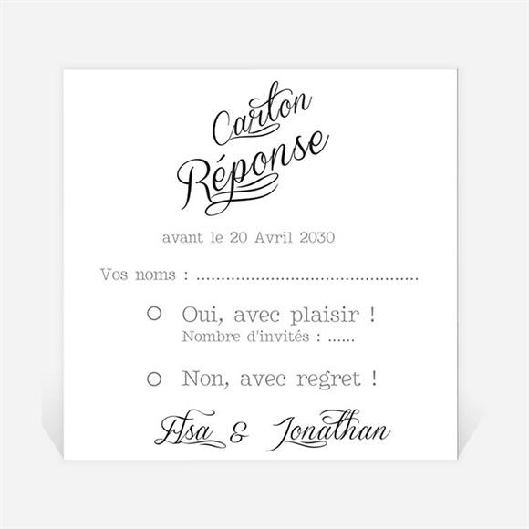 Carton réponse mariage Notre Volonté réf.N300826