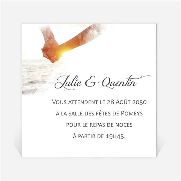 Carton d'invitation mariage Tendresse photo réf.N300828