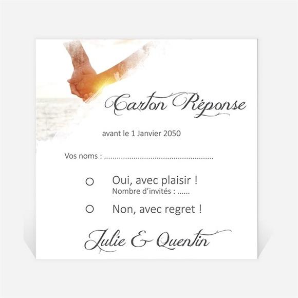 Carton réponse mariage Tendresse photo réf.N300829
