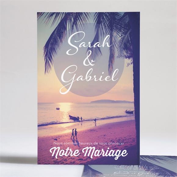 Faire-part mariage Notre Coucher de Soleil réf.N241111