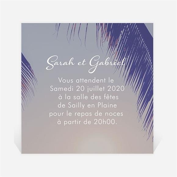Carton d'invitation mariage Notre Coucher de Soleil réf.N300831