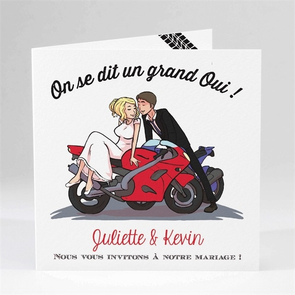 Faire-part mariage 2 bikers in love réf.N45140