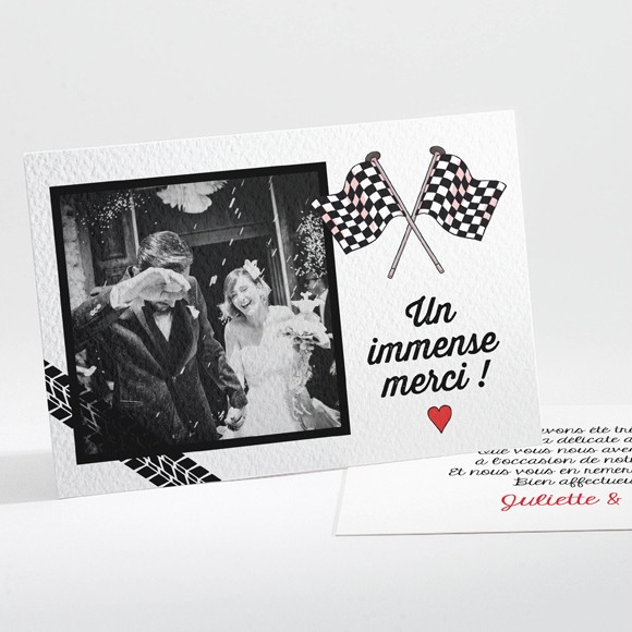 Remerciement mariage 2 bikers in love réf.N11189