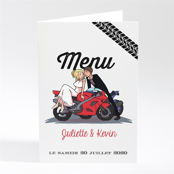 Menu mariage 2 bikers in love réf.N401594