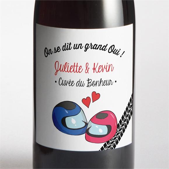 Etiquette de bouteille mariage 2 bikers in love réf.N300836