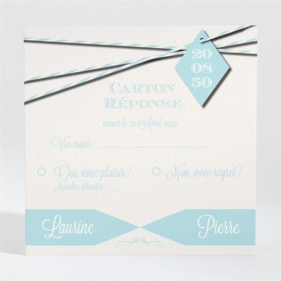 Carton réponse mariage Notre bande son! réf.N300838