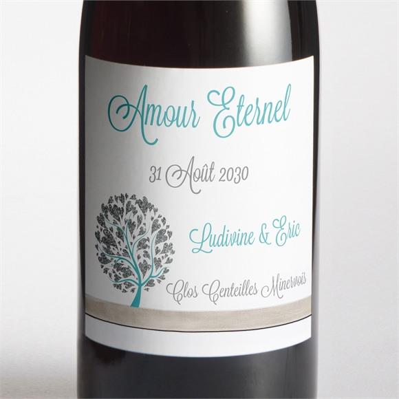Etiquette de bouteille mariage Arbre de coeurs réf.N300842