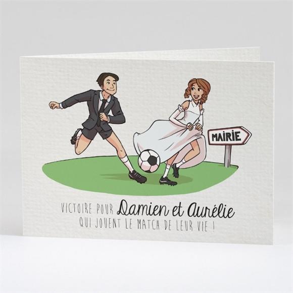 Faire-part mariage A vos crampons de football ! réf.N42133