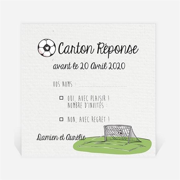 Carton réponse mariage A vos crampons de football ! réf.N300850