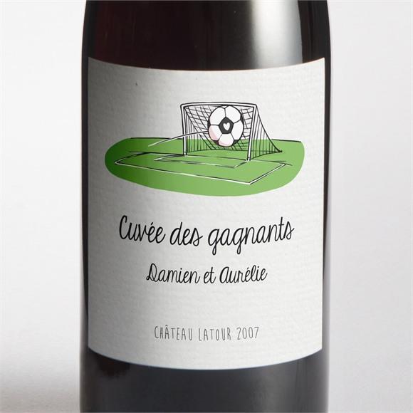 Etiquette de bouteille mariage A vos crampons de football ! réf.N300851
