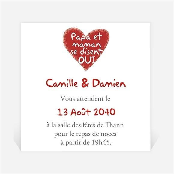Carton d'invitation mariage Les enfants annoncent ! réf.N300852