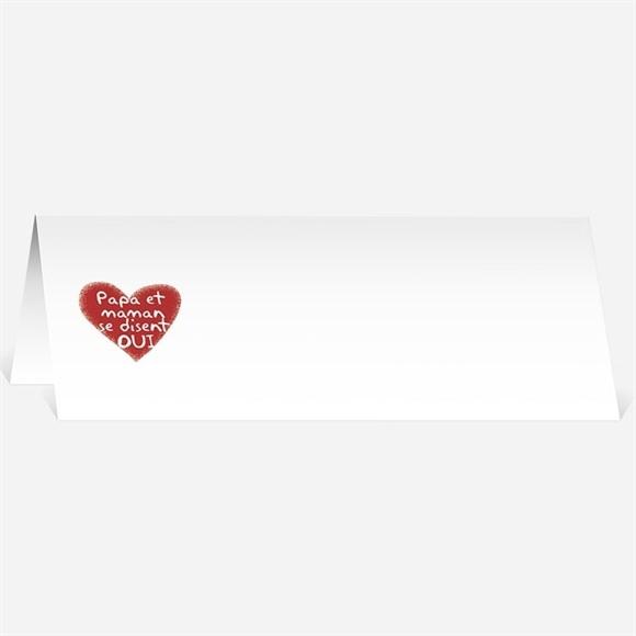 Marque-place mariage Les enfants annoncent ! réf.N440483