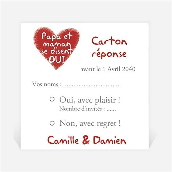 Carton réponse mariage Les enfants annoncent ! réf.N300853