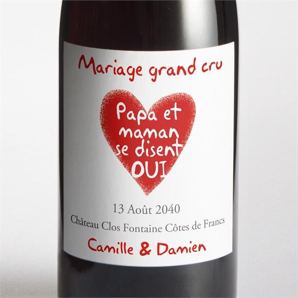 Etiquette de bouteille mariage Les enfants annoncent ! réf.N300854