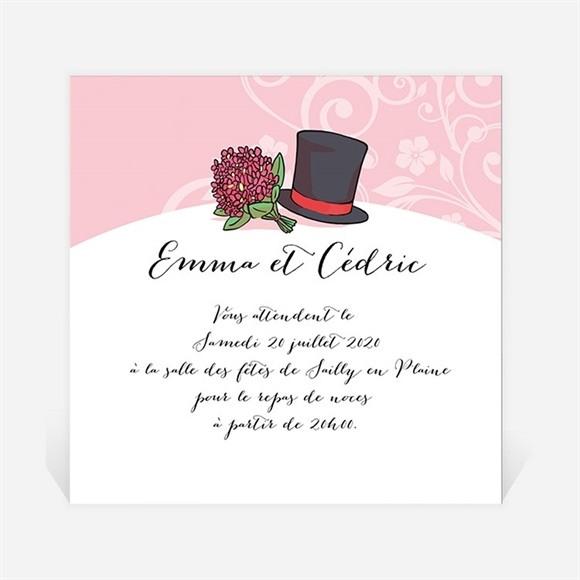 Carton d'invitation mariage Ils se disent Oui! réf.N300858