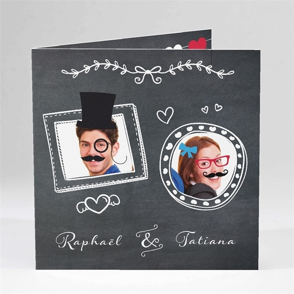 Faire-part mariage Photobooth réf.N45143