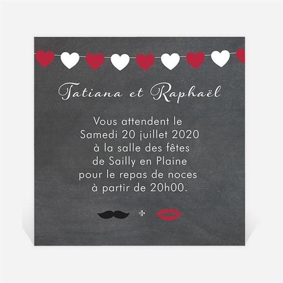 Carton d'invitation mariage Photobooth réf.N300864