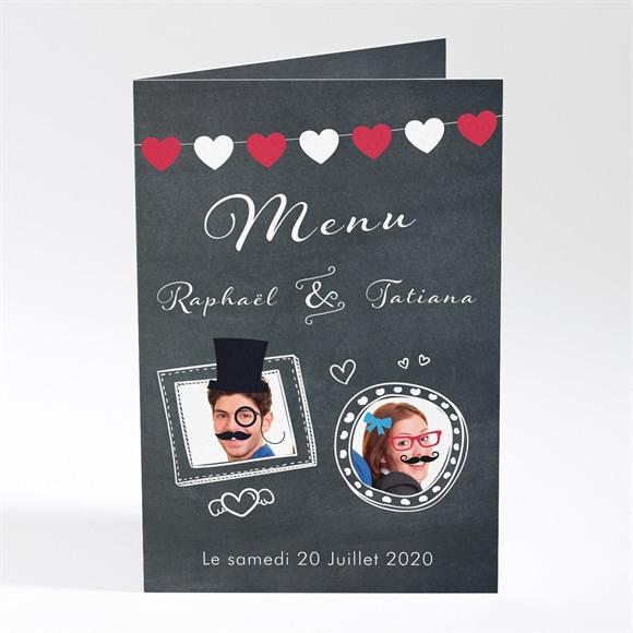 Menu mariage Photobooth réf.N401604