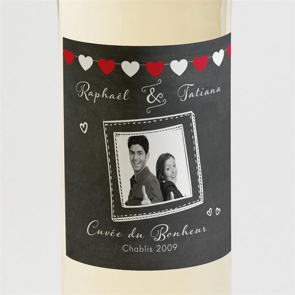 Etiquette de bouteille mariage Photobooth réf.N300866