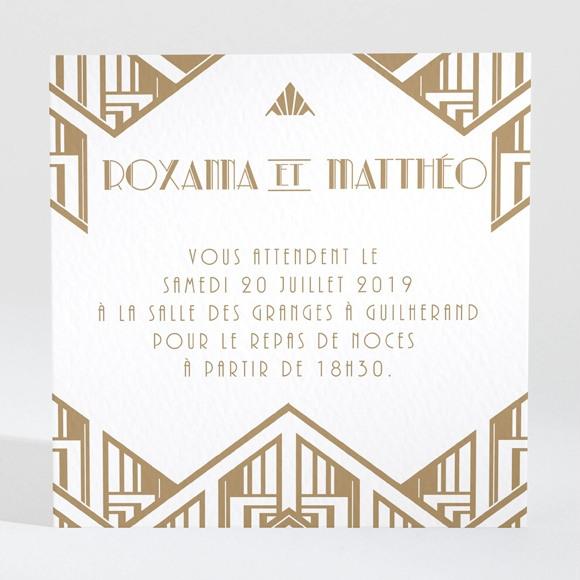 Carton d'invitation mariage Années folles réf.N300861