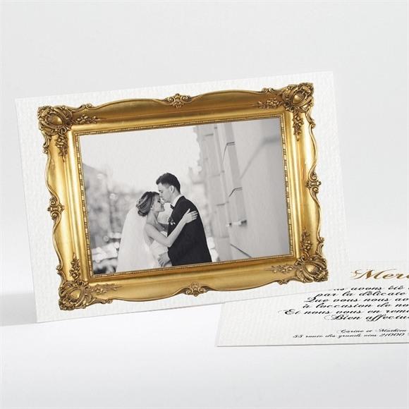 Remerciement mariage Imitation cadre or réf.N11199