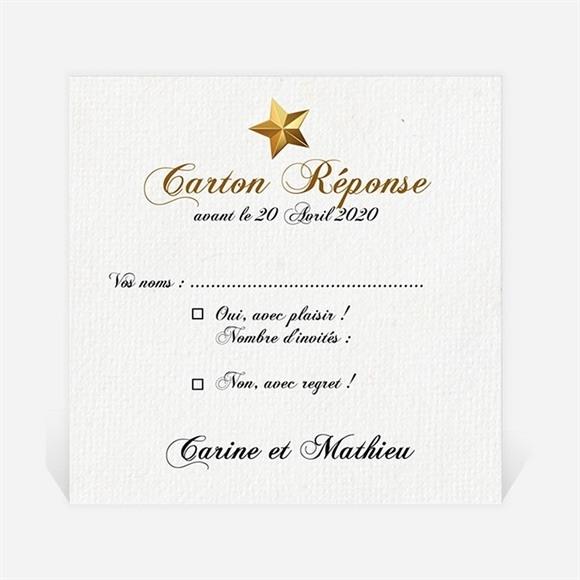Carton réponse mariage Imitation cadre or réf.N300870