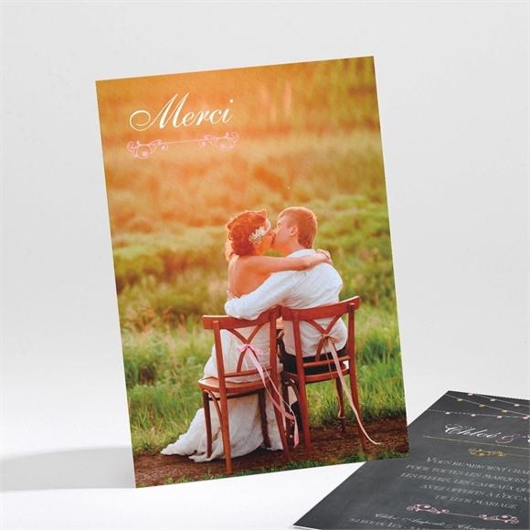 Remerciement mariage Ardoise élégante et étiquettes réf.N21196