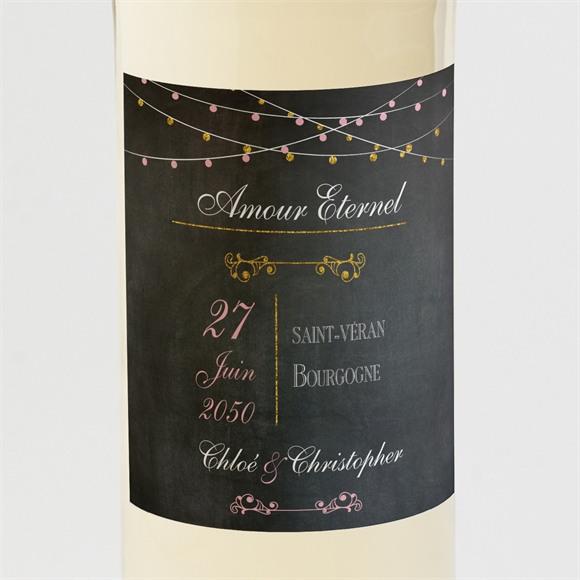 Etiquette de bouteille mariage Ardoise élégante et étiquettes réf.N300877