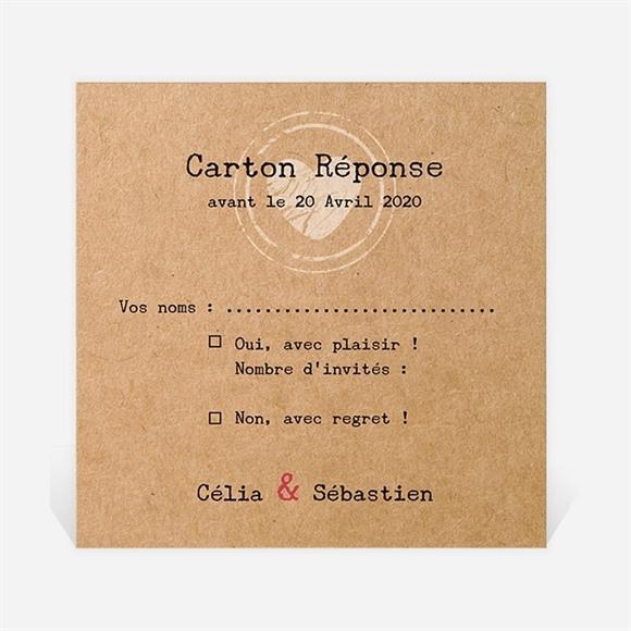 Carton réponse mariage L'instant magique réf.N300873