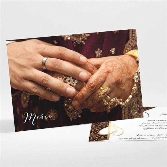 Remerciement mariage Mille et une Nuits réf.N111101