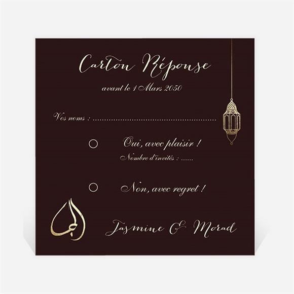 Carton réponse mariage Mille et une Nuits réf.N300881