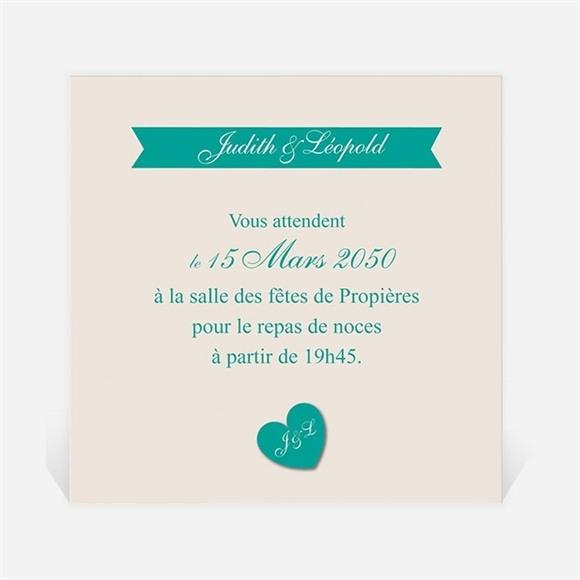 Carton d'invitation mariage Photo et vert pastel réf.N300882
