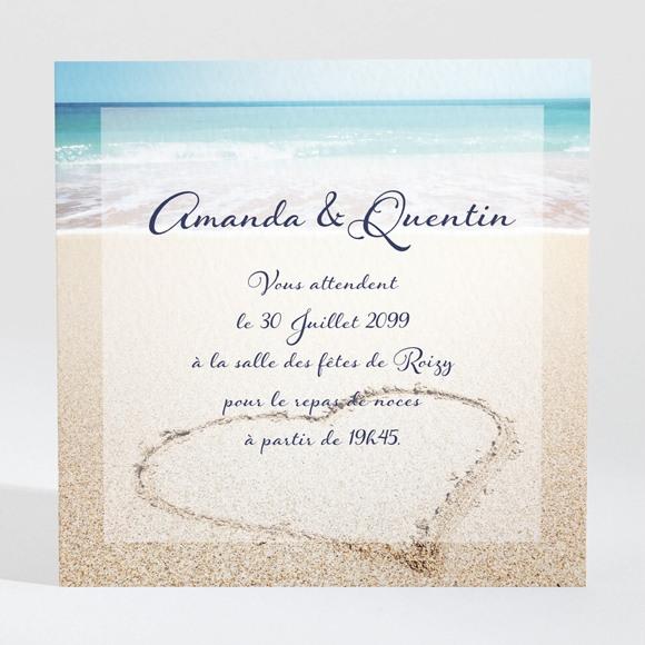 Carton d'invitation mariage Rêve de plage réf.N300885