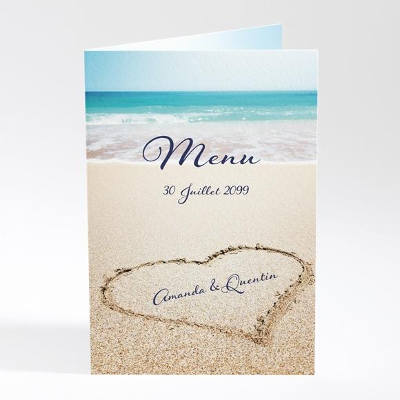 Menu mariage Rêve de plage réf.N401613