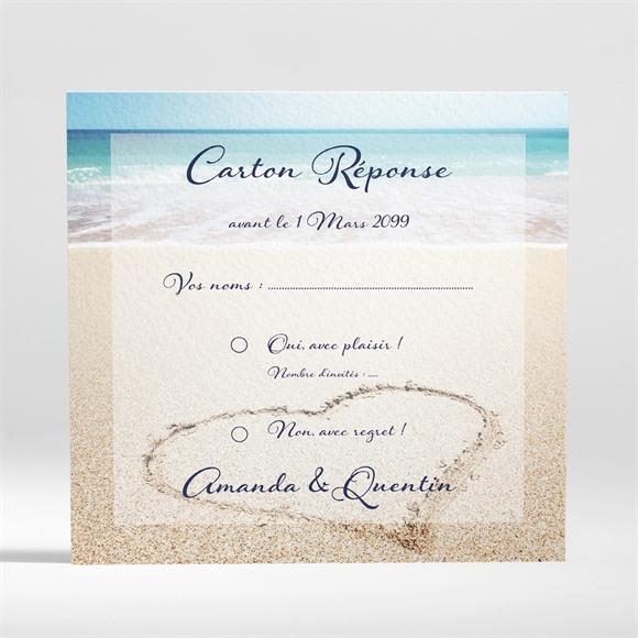 Carton réponse mariage Rêve de plage réf.N300886