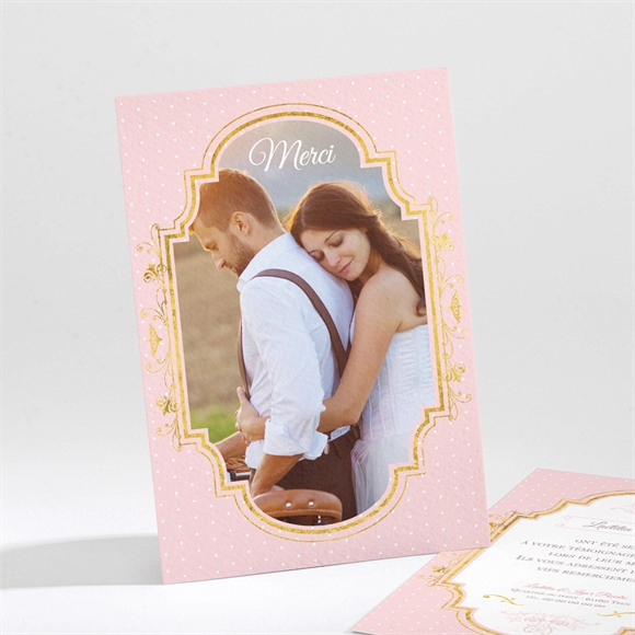 Remerciement mariage Joli macaron réf.N21197
