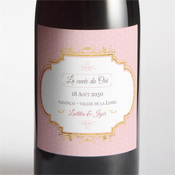 Etiquette de bouteille mariage Joli macaron réf.N300890