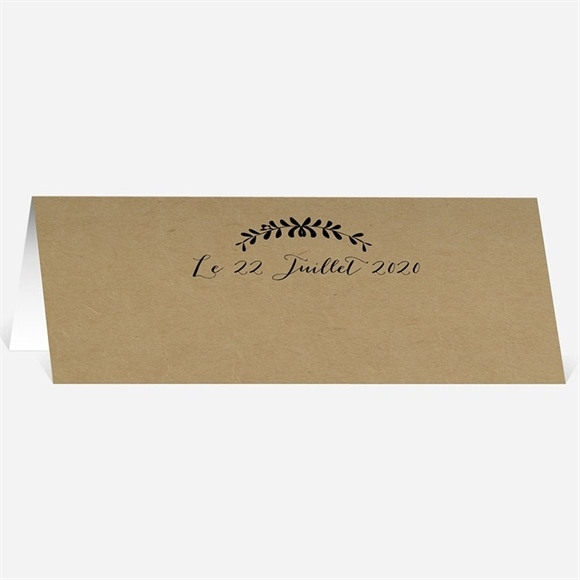 Marque-place mariage Black chic réf.N440498
