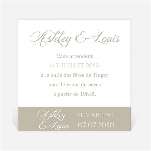 Carton d'invitation mariage Notre annonce en photos réf.N300897
